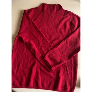 NWOT Mango Red High Collar Knit Sweater